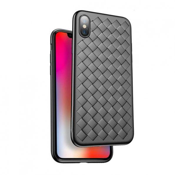Braided iPhone X – Svart