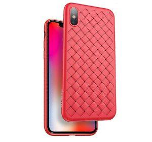 Braided iPhone X – Röd