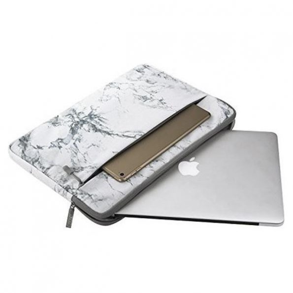 "Laptopfodral 15"" - White Marble"