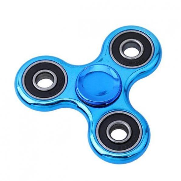 Fidget Spinner Chrome - Blå