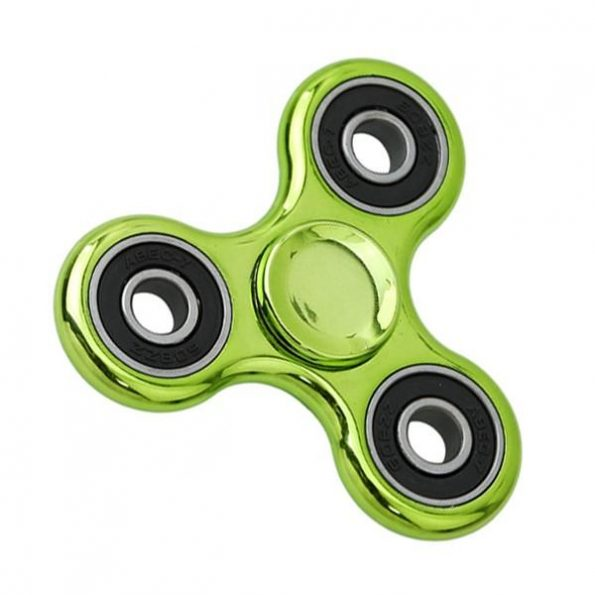 Fidget Spinner Chrome - Grön