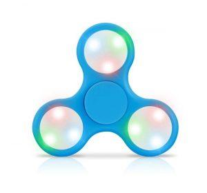 LED - Fidget Spinner - Blå