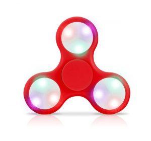 LED - Fidget Spinner - Röd