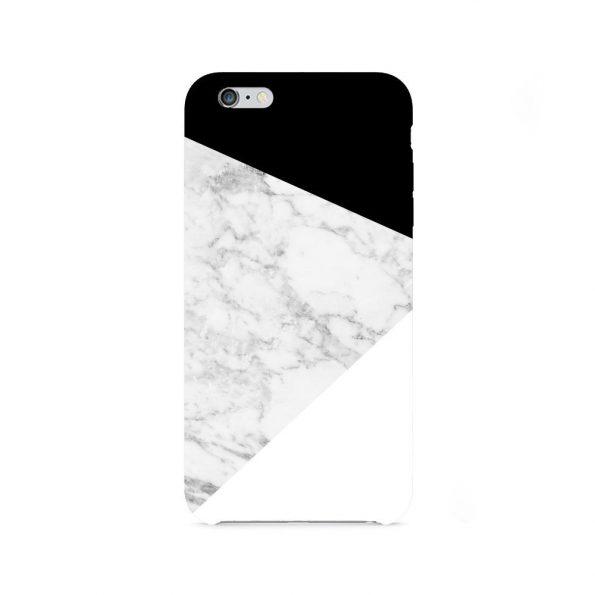 Granite Marble - Black and White - iPhone 7 skal
