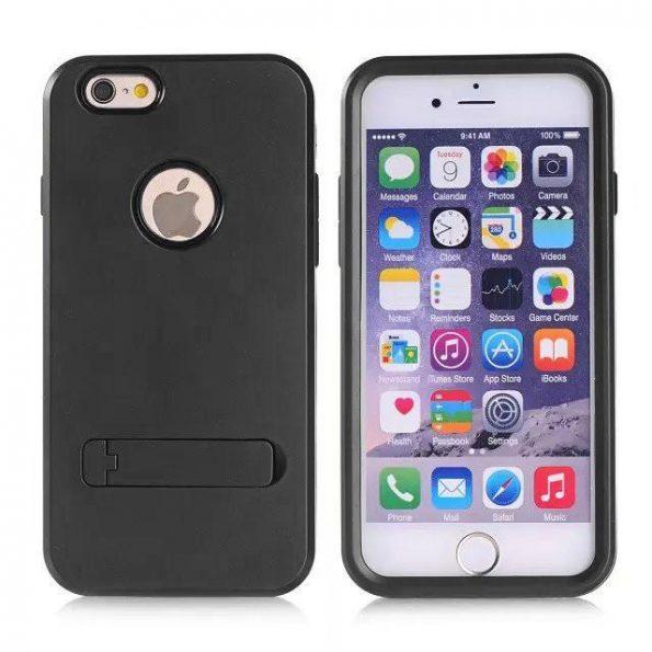 Stand Case - Svart - iPhone 6 skal