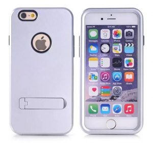 Stand Case - Silver - iPhone 6 skal