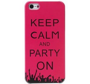 Keep Calm Party - Rosa - iPhone 5 skal