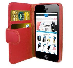 iPhone 6 Plus Plånbok - MS iWallet - Röd