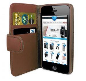 iPhone 6 Plus Plånbok - MS iWallet - Brun