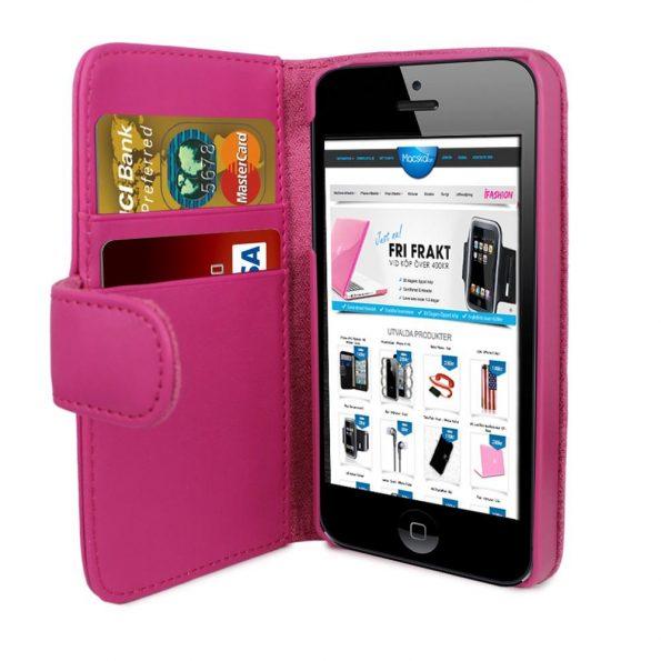 iPhone 6 Plus Plånbok - MS iWallet - Rosa