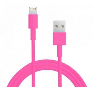 USB - 3m Lightning kabel - Rosa