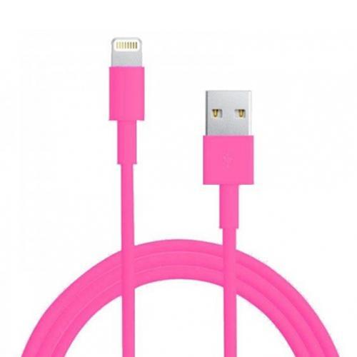 USB - 3m Lightning kabel - Rosa