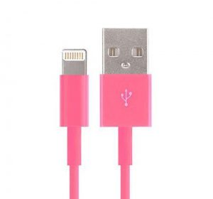 USB - Lightning kabel - Rosa