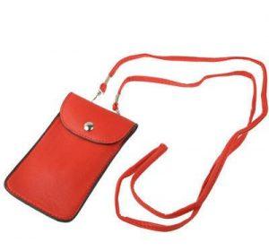 Mobilhalsband - Röd