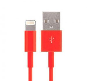 USB - Lightning kabel - Röd