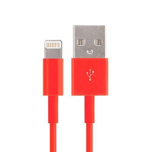 USB - Lightning kabel - Röd