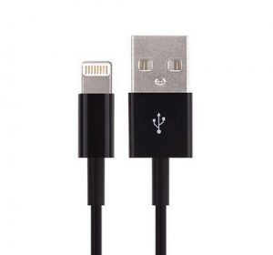 USB - Lightning kabel - Svart