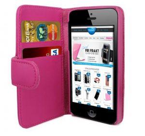 iPhone 5 Plånbok - MS iWallet - Rosa