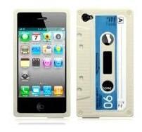 Retro Cassette - Vit - iPhone 5 skal
