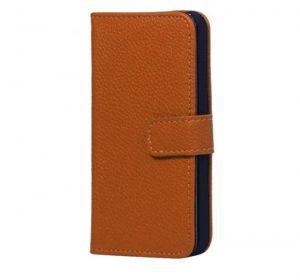 iPhone 5 Läderplånbok - Brun