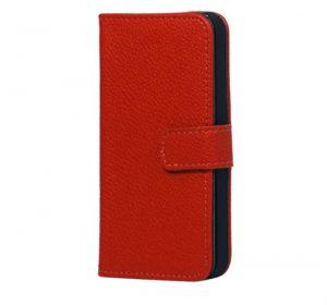 iPhone 5 Läderplånbok - Röd