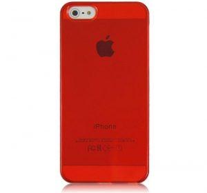 Glossy - Röd - iPhone 5 skal