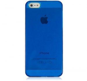 Glossy - Blå - iPhone 5 skal