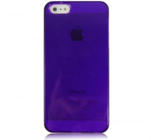 Glossy - Lila - iPhone 5 skal