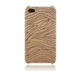 MS Mixed Glitter (guld) - iPhone 4/4S skal