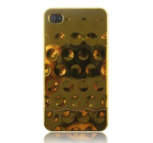 MS Shiny Bubbles - Guld - iPhone 4/4S skal