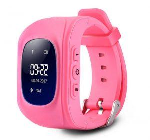 Klocka med GPS för barn - Rosa
