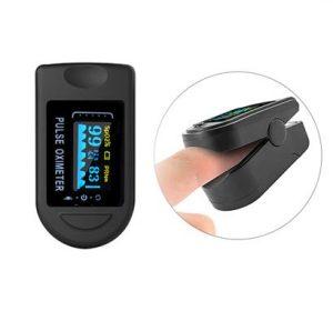 Pulsoximeter / Syremätare MS50 Det är en liten, lätt enhet som du enkelt fäster