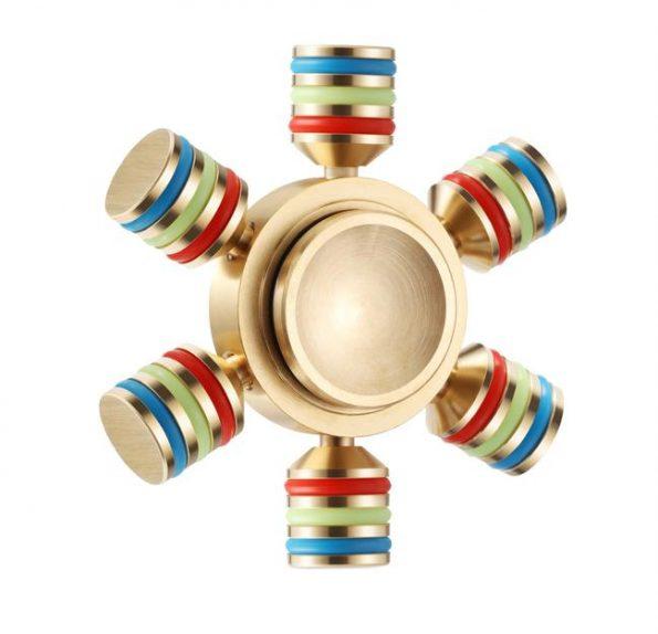 Gold Rubber Fidget Spinner