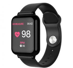 S4 Smartwatch med Bluetooth - Svart