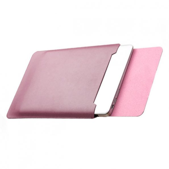 "Leather Sleeve - Rosa - MacBook Fodral 13"""