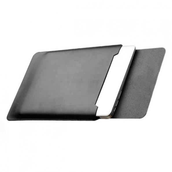 "Leather Sleeve - Svart - MacBook Fodral 13"""