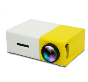 LED Projektor Portabel - Vit / Gul