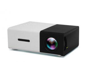 LED Projektor Portabel - Svart / Vit