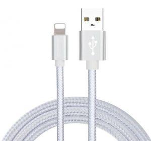 Braided Deluxe - Vit- Lightning kabel