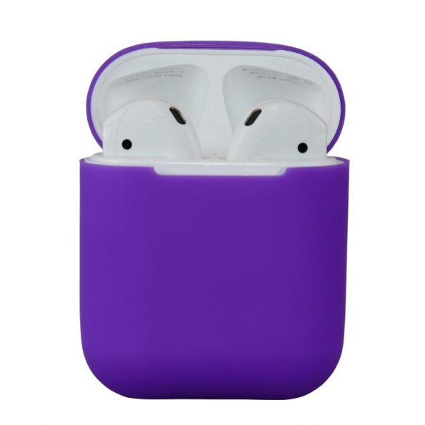 AirPods Silikonfodral - Lila