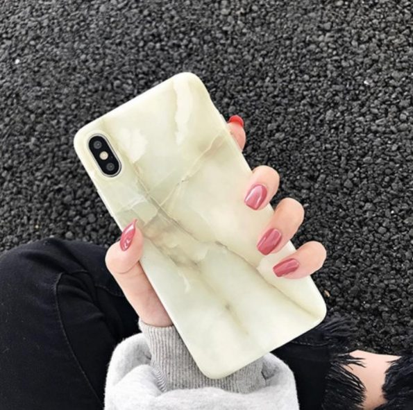 Lime Marble - iPhone 11 Skal