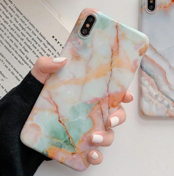 Aqua Green Marble - iPhone 11 Skal
