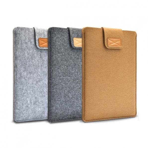 "Macbook Wool Case 15"" - Brun"