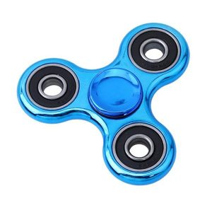 Fidget Spinner Chrome - Blå