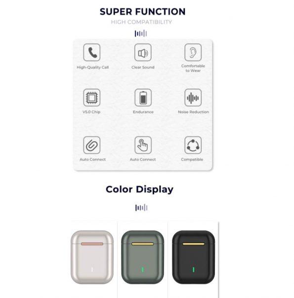 Jeweled Bluetooth Hörlurar - Jade