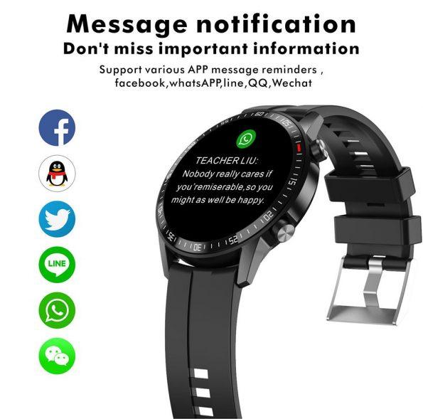 Quota Sharp Smartwatch - Svart Läder