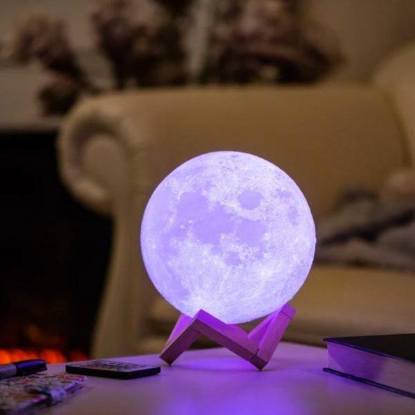 Nattlampa Måne 3D