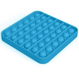 Pop It - Fidget Toy - Ljusblå Fyrkant