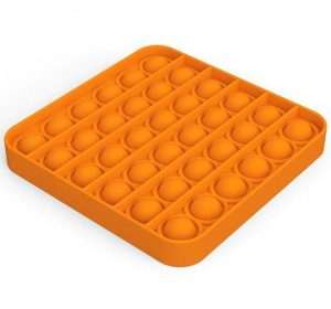 Pop It - Fidget Toy - Orange Fyrkant