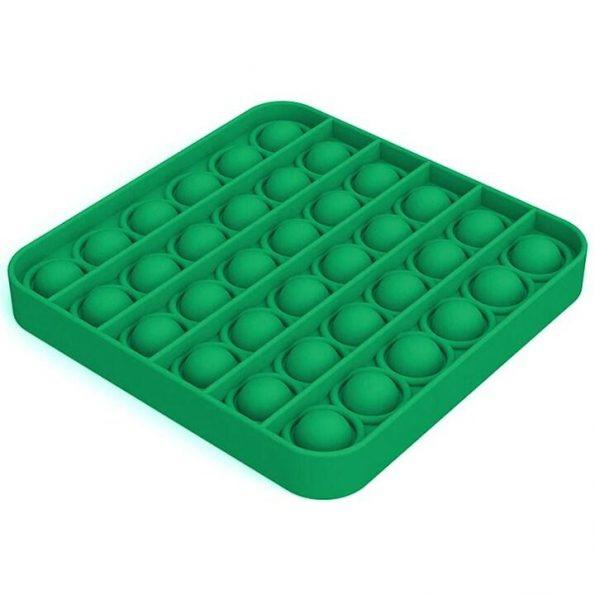 Pop It - Fidget Toy - Grön Fyrkant